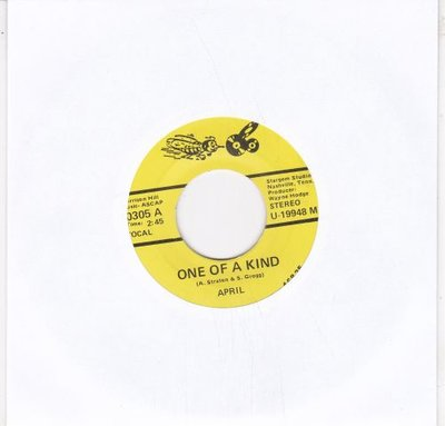 April Straten - One Of A Kind + Call Me Each Evening (Vinylsingle)