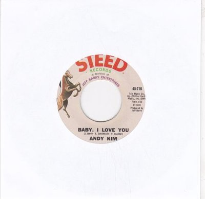 Andy Kim - Baby I love you + Gee girl (Vinylsingle)