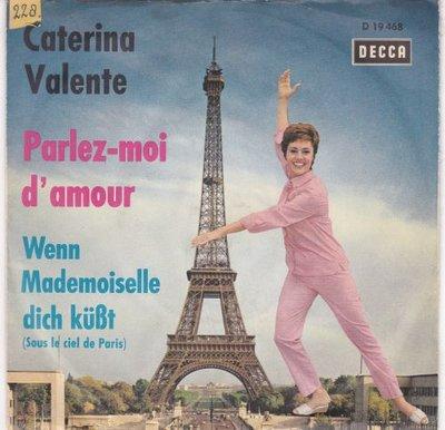 Caterina Valente - Parlez-Moi D'Amour + Wenn Mademoiselle Dich Kust (Vinylsingle)