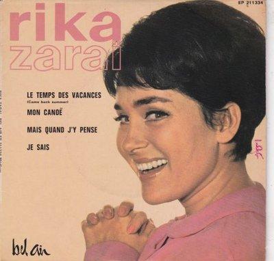 Rika Zarai - Le temps des vacances + Mon canoe +2 (Vinylsingle)