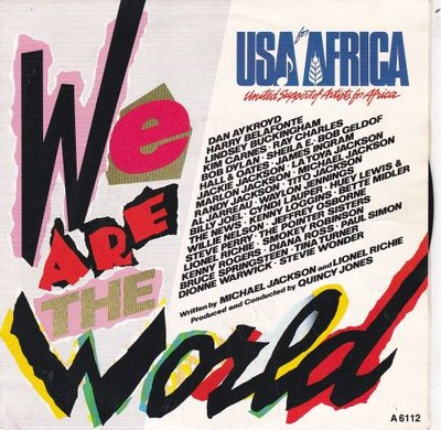 USA for Africa - We are the world + Grace (Vinylsingle)