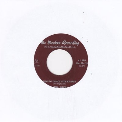 Iona Mack - I like to dance with my baby + It is you baby on my mind (Vinylsingle)