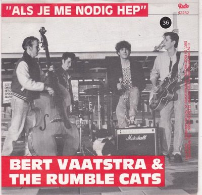 Bert Vaatstra & The Rumble Cats - Als Je Me Nodig Hep + Paradiso (Vinylsingle)