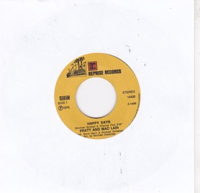 Pratt & McLain - Happy days + Cruisin' with the Fonz (Vinylsingle)