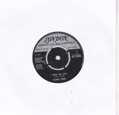 Gloria Lynne - I Wish You Love + Through A Long And Sleepless Night (Vinylsingle)
