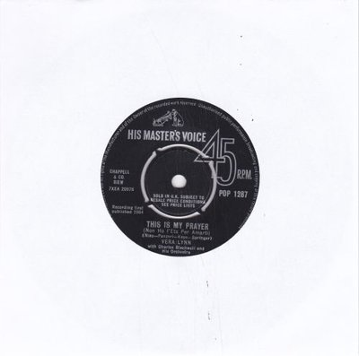 Vera Lynn - This Is My Prayer + You Brought A New Kind Of Love To Me (Vinylsingle)
