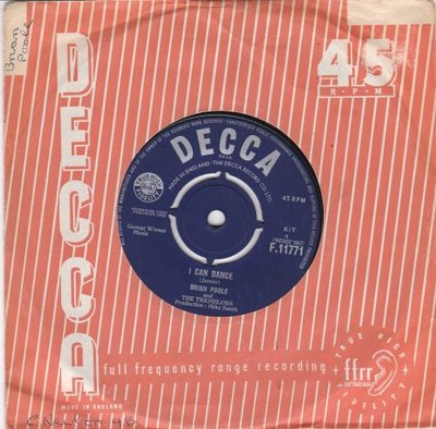 Brian Poole & The Tremeloes - I Can Dance + Are You Loving Me At All (Vinylsingle)