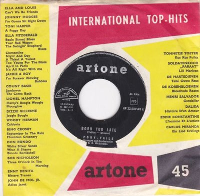 Pony Tails - Born too late + Come on Joey dance with me (Vinylsingle)