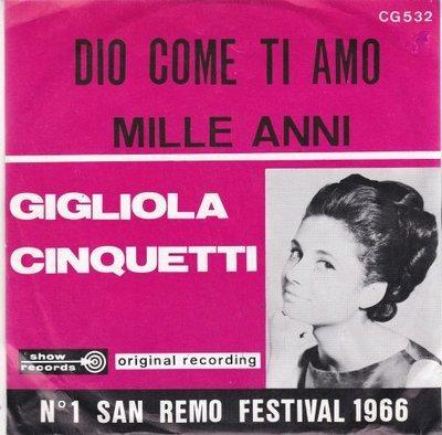 Gigliola Cinquetti - Dio, Come Ti Amo + Mille Anni (Vinylsingle)