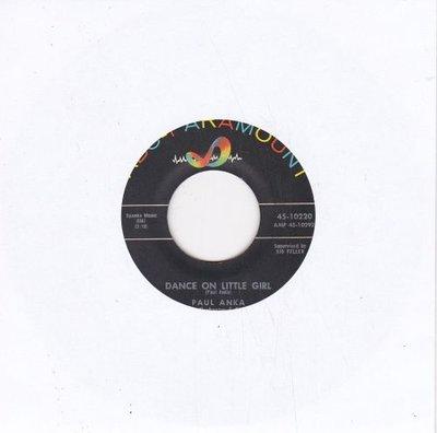 Paul Anka - Dance on little girl + I talk to you (Vinylsingle)