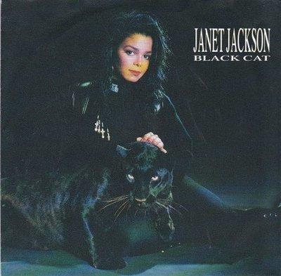 Janet Jackson - Black cat + The 1814 megamix (Vinylsingle)