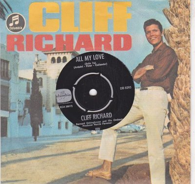 Cliff Richard - All my love + Sweet little Jezus boy (Vinylsingle)