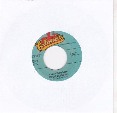 Eddie Cochran / Gene Vincent - C'mon everybody + Be bop a lula (Vinylsingle)