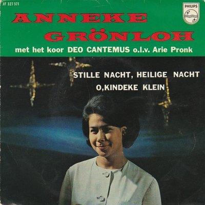 Anneke Gronloh - Stille nacht heilige nacjt + O kindeke klein (Vinylsingle)