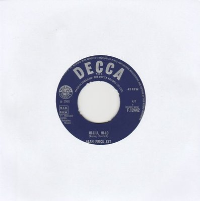 Alan Price - Hi-Lili. Hi-lo + Take me home (Vinylsingle)