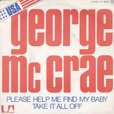 George McCrae - Please Help Me Find My Baby + Take It All Off (Vinylsingle)
