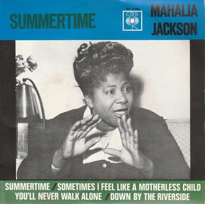 Mahalia Jackson - Summertime + Sometimes I feel like a motherless child +2 (Vinylsingle)