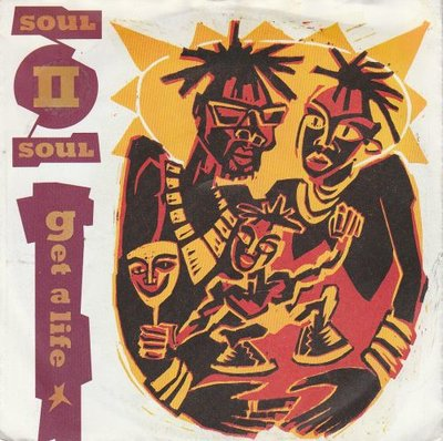 Soul II Soul - Get a life + Jazzie's groove (Vinylsingle)