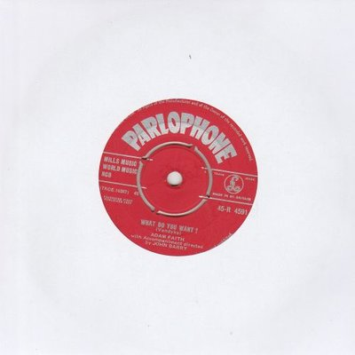 Adam Faith - What do you want + From now until forever (Vinylsingle)
