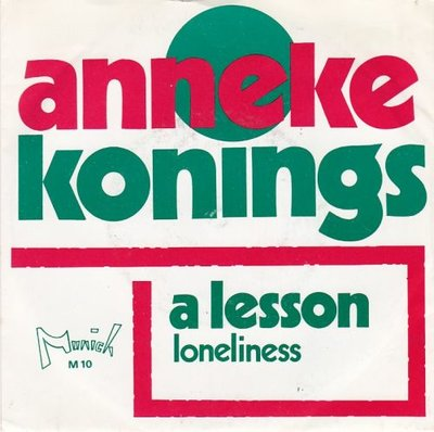 Anneke Konings - A lesson + Loneliness (Vinylsingle)