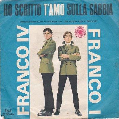 Franco IV E Franco I - Ho Scritto T'Amo Sulla Sabbia + Silvia (Vinylsingle)