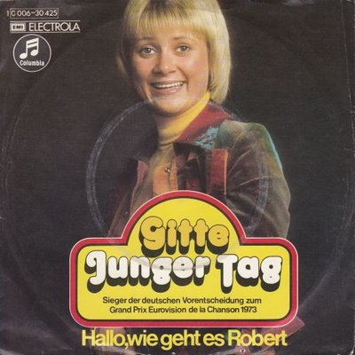 Gitte - Junger tag + Hallo. wie geht es Robert (Vinylsingle)
