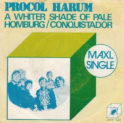 Procol Harum - A whiter shade of pale + Homburg + Conquistador (Vinylsingle)