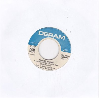 Procol Harum - A whiter shade of pale + Lime street blues (Vinylsingle)