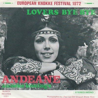 Andeane - Lovers bye bye + Monday mornig blues (Vinylsingle)
