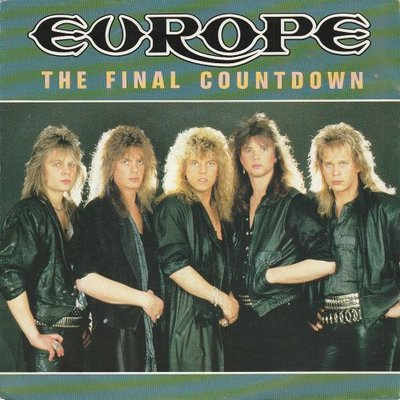 Europe - The final countdown + On broken wings (Vinylsingle)