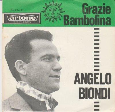 Angelo Biondi - Grazie + Bambolino (Vinylsingle)