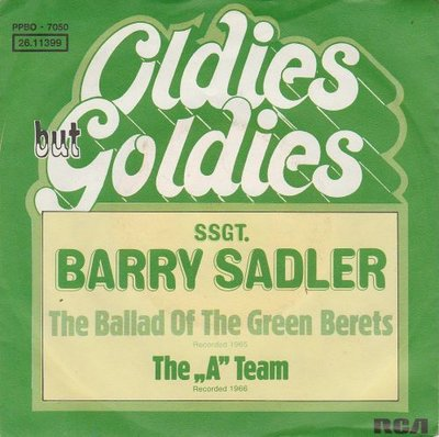 Barry Sadler - The ballad of the green berets + The A team (Vinylsingle)