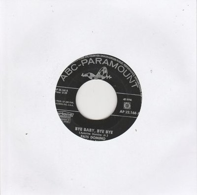 Fats Domino - Bye baby. bye bye + Just a lonely man (Vinylsingle)