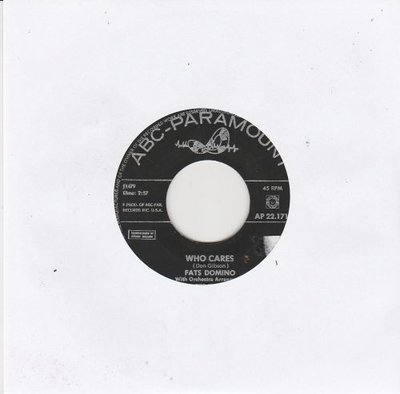 Fats Domino - Who cares + Land of thousand dances (Vinylsingle)