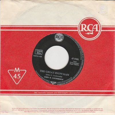 John D. Loudermilk - The great snowman + Language of love (Vinylsingle)