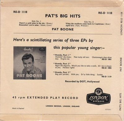 Pat Boone - Pat's big hits (Vinylsingle)