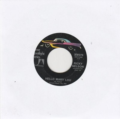 Ricky Nelson - Hello Mary Lou + Sweeter than you (Vinylsingle)