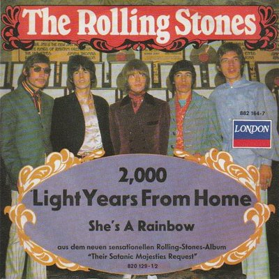 Rolling Stones - 2000 light years from home + She's a rainbow (Vinylsingle)