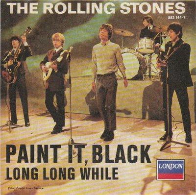 Rolling Stones - Paint it black + Long long while (Vinylsingle)