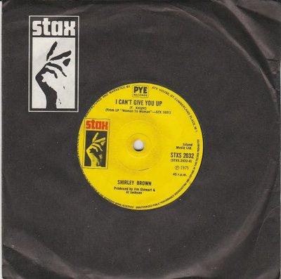 Shirley Brown - I Can't Give You Up + It Ain't No Fun (Vinylsingle)
