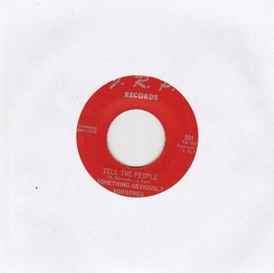 Something Obviously Borrowed - Tell The People + Joan (Vinylsingle)
