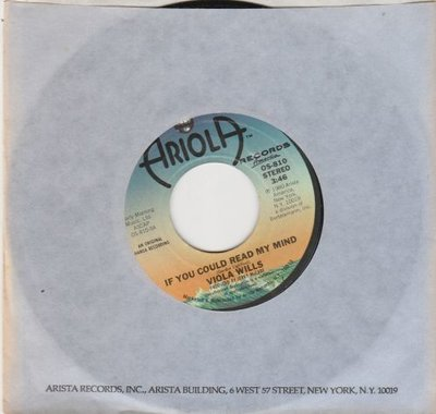Viola Wills - If you could read my mind + Somebody's eyes (Vinylsingle)