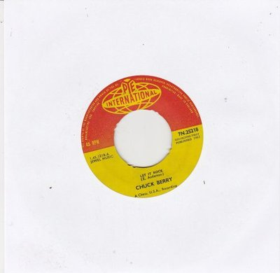 Chuck Berry - Let it rock + Memphis Tennessee (Vinylsingle)