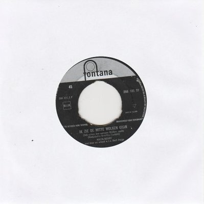 Anita Berry - Ik Zie de Witte Wolken Gaan + Witte Meeuwen (Vinylsingle)