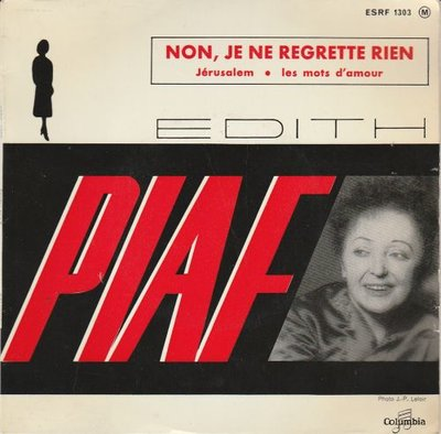 Edith Piaf - Non. je ne regrette rien + Le mots d'amour + Jerusalem (Vinylsingle)
