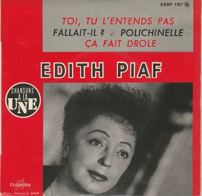 Edith Piaf - Toi tu l'entends pas (EP) (Vinylsingle)