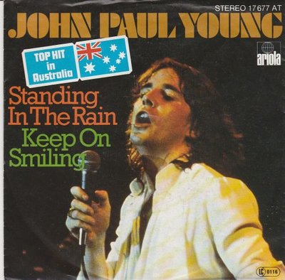 John Paul Young - Standing in the rain + Keep on smiling (Vinylsingle)