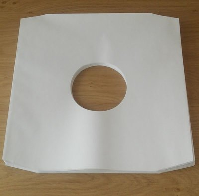 Binnenhoezen voor LP's (zonder plastic binnenfolie) - per 50 stuks