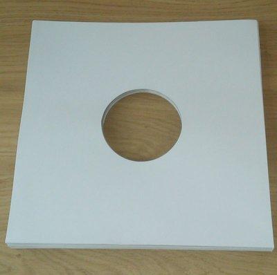 LP Hoezen Karton, Wit met middengat - per 10 stuks