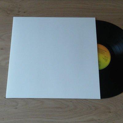 LP Hoezen Karton, Wit zonder middengat - per 10 stuks